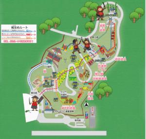 新城総合公園のわんぱく広場マップ